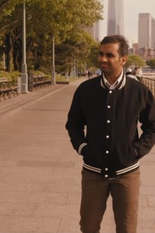 Black varsity Jacket in Master of None