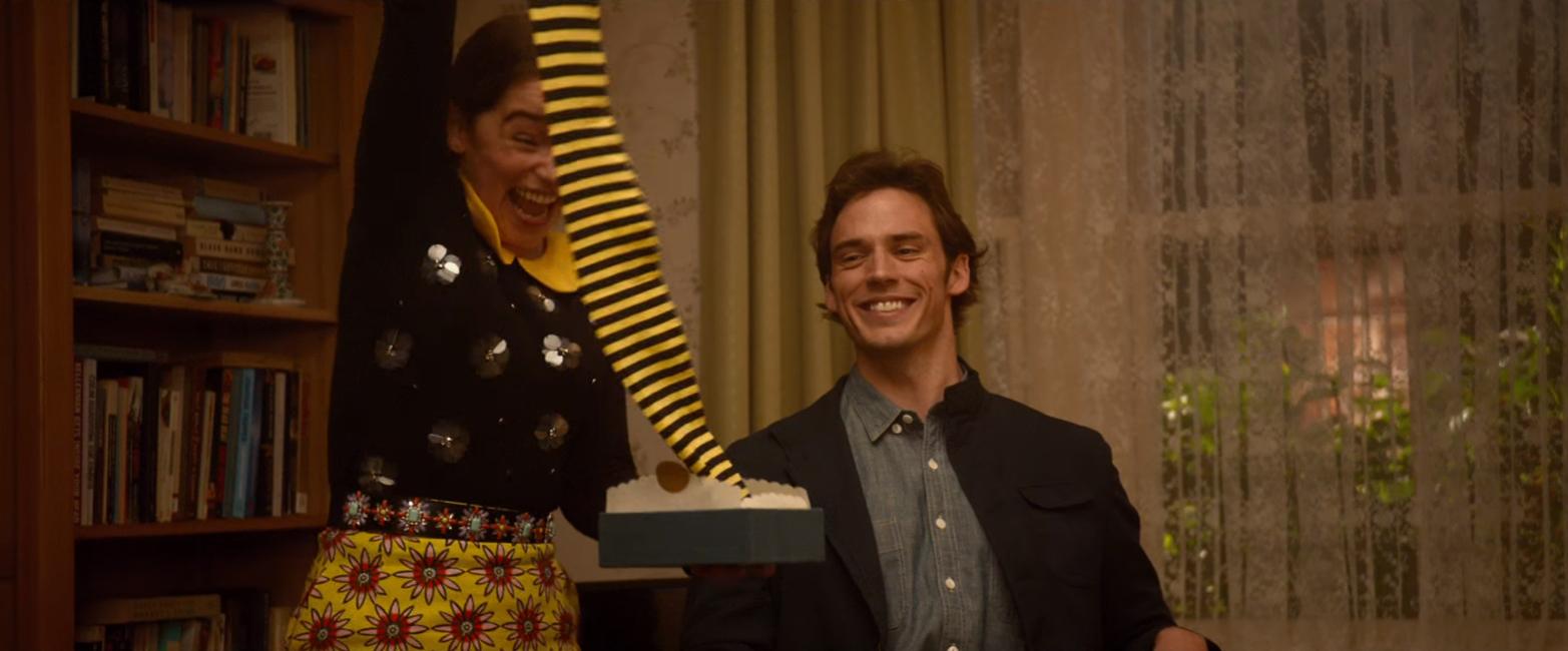 Bumblebee tights Emilia Clarke in Me Before You (2016)