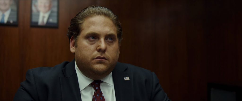 Flag Lapel Pin Jonah Hill in War Dogs (2016)
