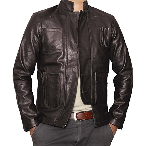 Leather Jacket Han Solo in Star Wars: The Force Awakens (2015)