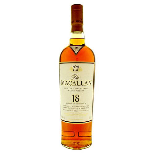 The Macallan 18 year old whisky