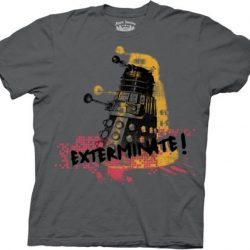 Doctor Who Robot Exterminate Splatter T-shirt