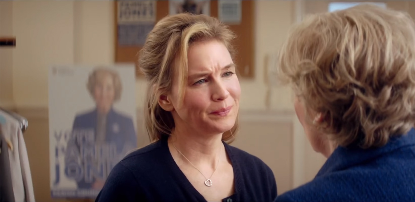 Heart pendant necklace Renée Zellweger in Bridget Jones's Baby (2016)
