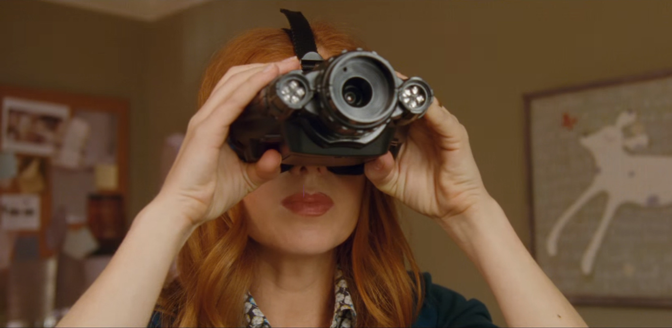 Night vision goggles in Keeping up with the Joneses (2016)
