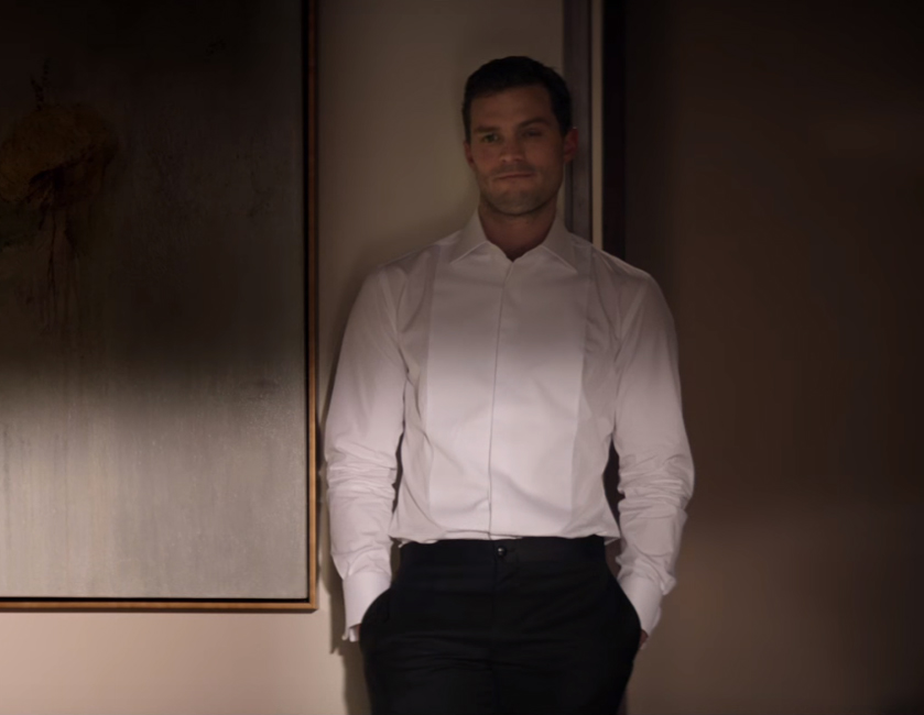 White tuxedo shirt Jamie Dornan Fifty Shades Darker (2017)