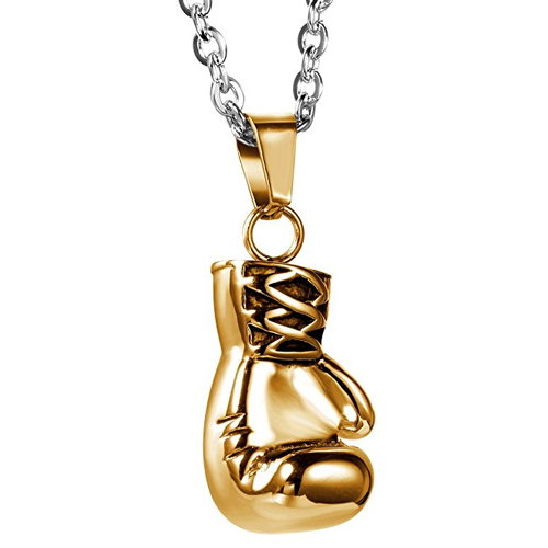 Golden boxing glove pendant necklace miles teller in bleed for this golden boxing glove pendant necklace miles teller in bleed for this 2016 aloadofball