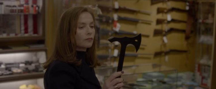 Tomahawk Throwing Axe Isabelle Huppert in Elle (2016)