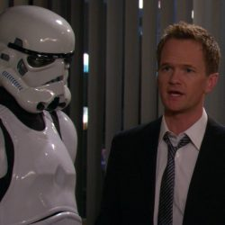 Star Wars Stormtrooper Barney Stinson in How I Met Your Mother