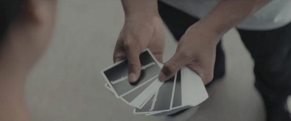 Jacob Latimore's playing cards in Sleight (2016)