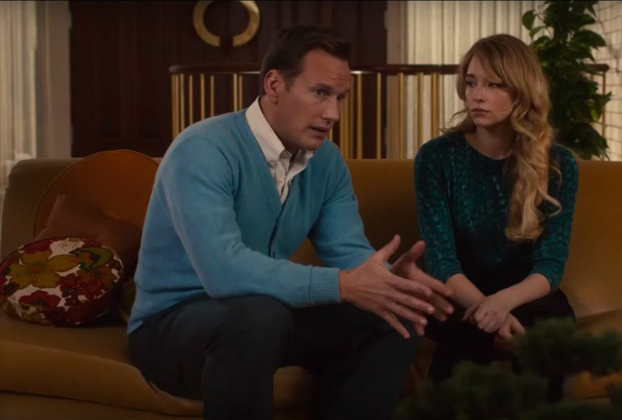 Light blue cardigan sweater Patrick Wilson in A Kind of Murder (2016)