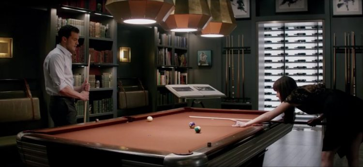 Pool table in Fifty Shades Darker (2017)