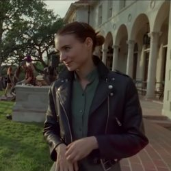 Leather jacket Rooney Mara in Song to Song (2017)