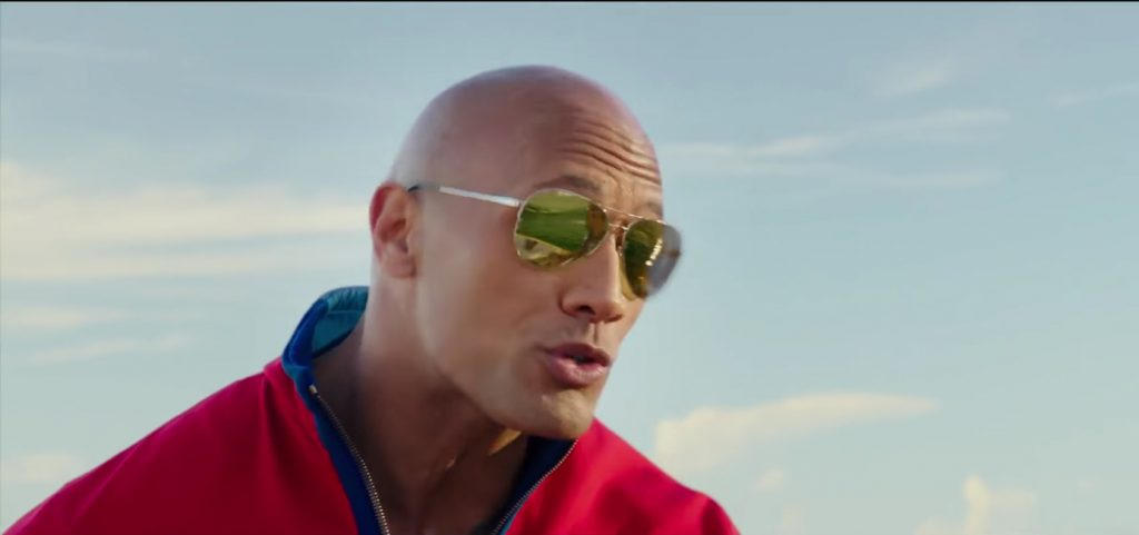 Sunglasses Dwayne Johnson in Baywatch (2017)