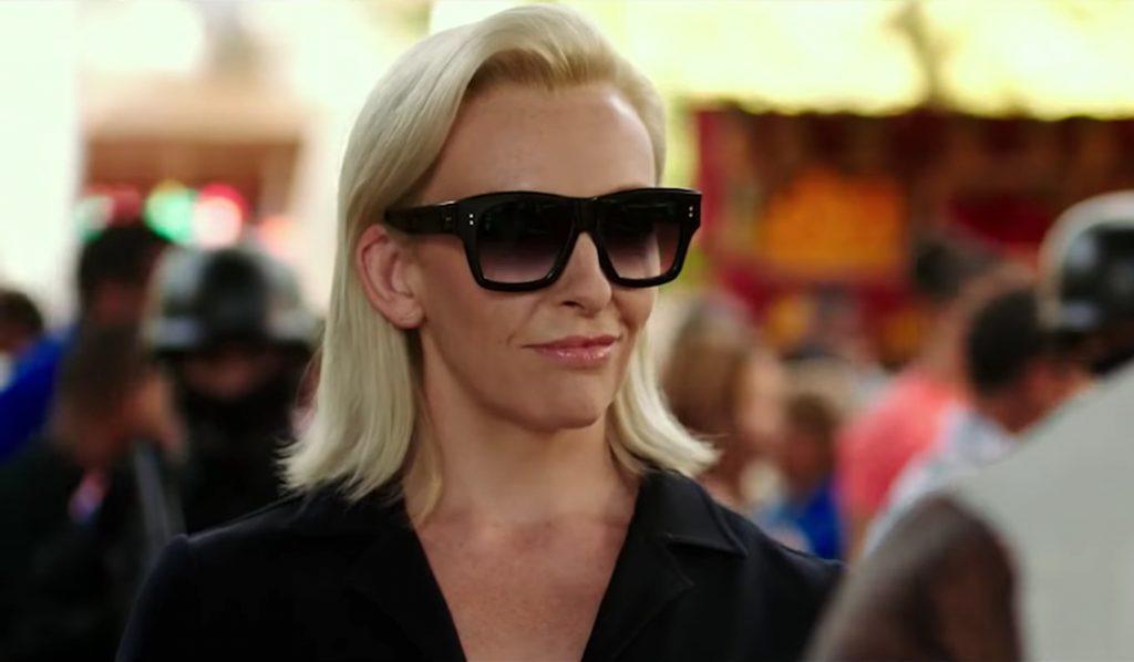 Toni Collette's square sunglasses in xXx: Return of Xander Cage (2017)