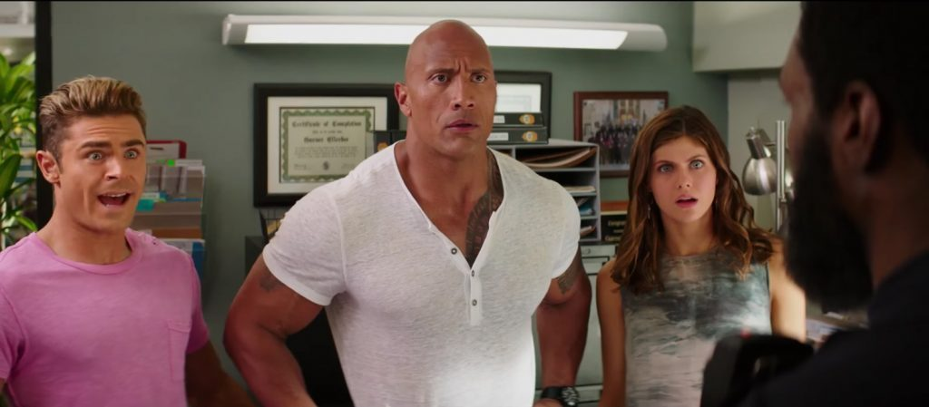 White henley shirt Dwayne Johnson in Baywatch (2017)
