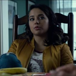 Yellow bomber jacket Becky G. in Power Rangers (2017)