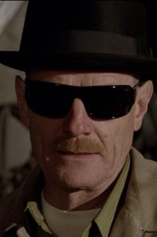 Black hat Walter White (Heisenberg) in Breaking Bad