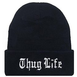 Thug Life beanie hat Tupac Shakur in All Eyez on Me (2017)