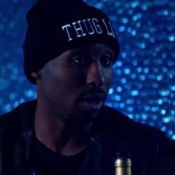 Thug Life beanie hat Tupac Shakur in All Eyez on Me (2017)