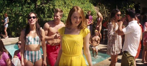 Yellow summer dress Emma Stone in La La Land (2016)