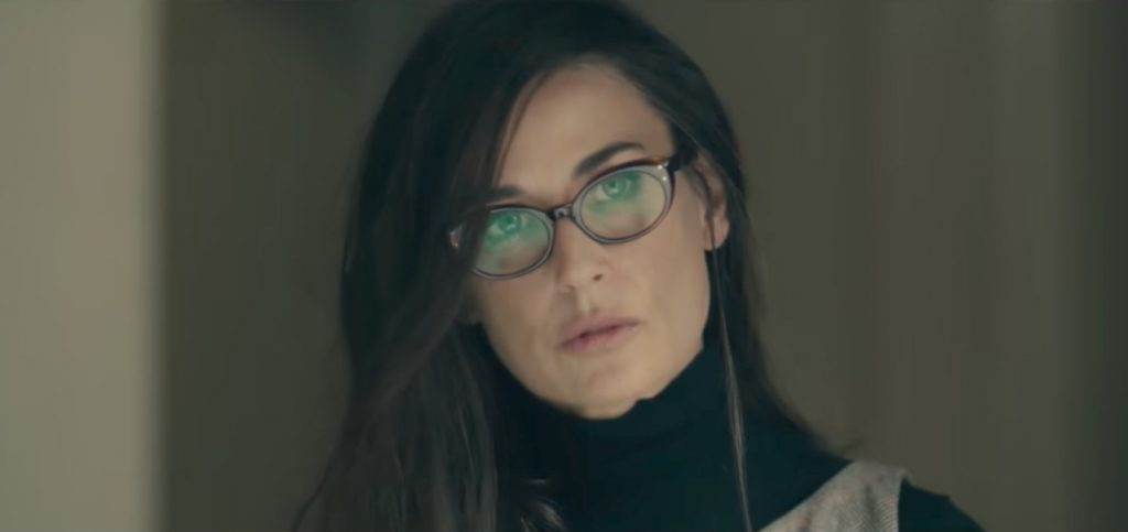 Cat eye glasses Demi Moore in Blind (2017)
