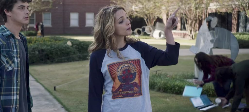 Dumpstaphunk long sleeve shirt Jessica Rothe in Happy Death Day (2017)