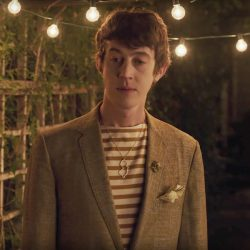 Map Outline Pendant Necklace Alex Sharp in To the Bone (2017)