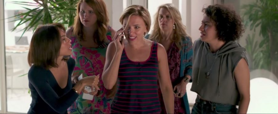 Striped Tank Top Scarlett Johansson in Rough Night 2017