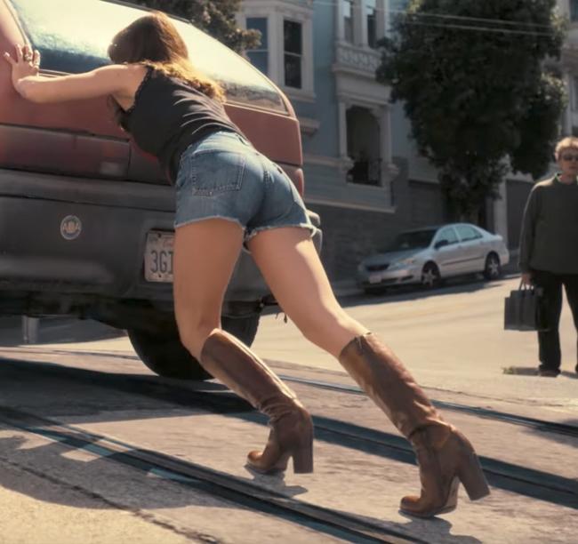 Brown boots Britt Robertson in Girlboss