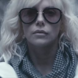 Charlize Theron's sunglasses in Atomic Blonde (2017)