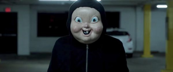 Creepy baby mask from Happy Death Day (2017)