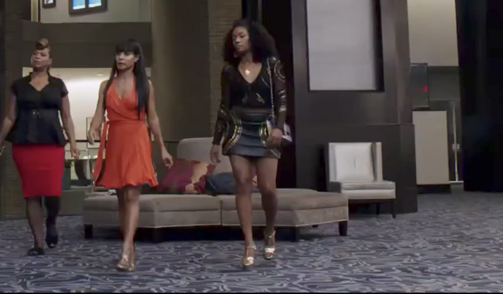 Golden heeled sandals Tiffany Haddish in Girls Trip (2017)