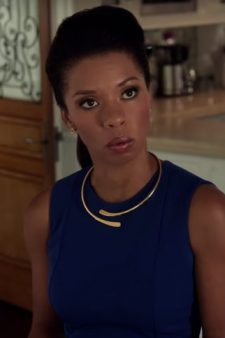 Blue dress Angel Parker (Catherine Wilder) in Runaways