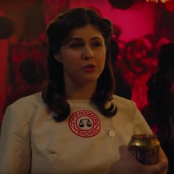 Baseball costume Alexandra Daddario in When We First Met (2018)