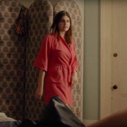 Bath robe Alexandra Daddario in When We First Met (2018)