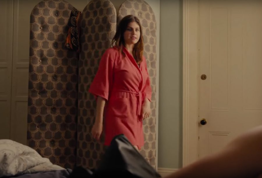 Bath robe Alexandra Daddario in When We First Met (2018)