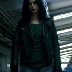 Black leather jacket Krysten Ritter in Jessica Jones