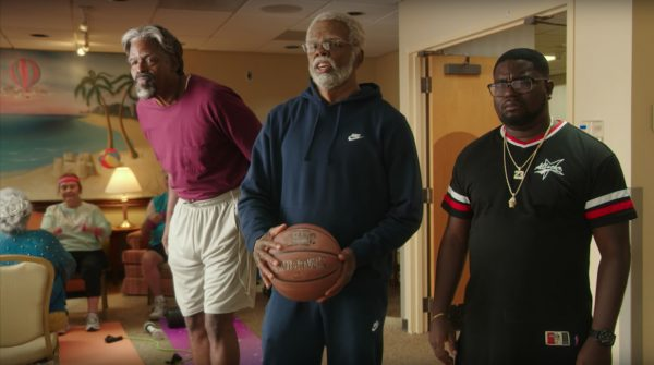 Blue Nike Sweatpants Kyrie Irving in Uncle Drew (2018)
