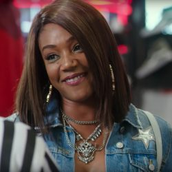 Denim star patch jacket Tiffany Haddish in Uncle Drew (2018)