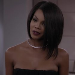Diamond tennis necklace Crystle Stewart in Acrimony (2018)