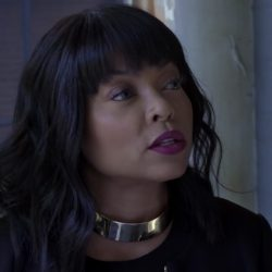Large silver choker necklace Taraji P. Henson in Acrimony (2018)