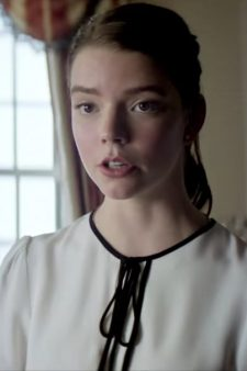Neck tie dress Anya Taylor-Joy in Thoroughbreds (2017)