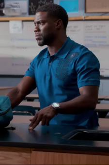 Peacock feather polo Kevin Hart in Night School (2018)