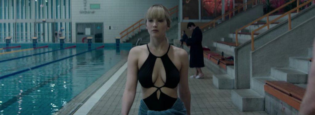 Black swimsuit Jennifer Lawrence in Red Sparrow (2018)