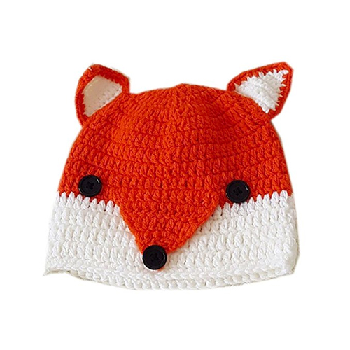 Knitted fox hat Carlotta von Falkenhayn in Dark