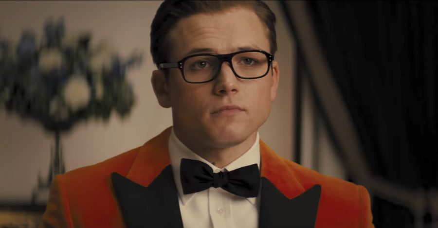 Orange tuxedo jacket Taron Egerton in Kingsman: The Golden Circle (2017)
