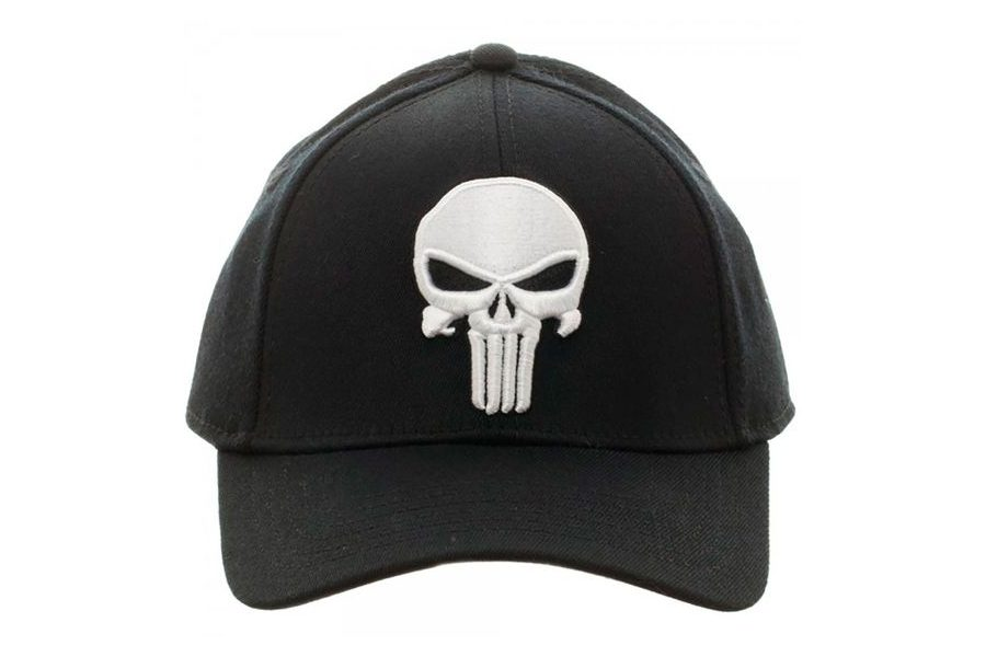 Marvel The Punisher Skull logo flex cap