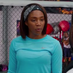 Blue Nike shirt Tiffany Haddish in Night School (2018)