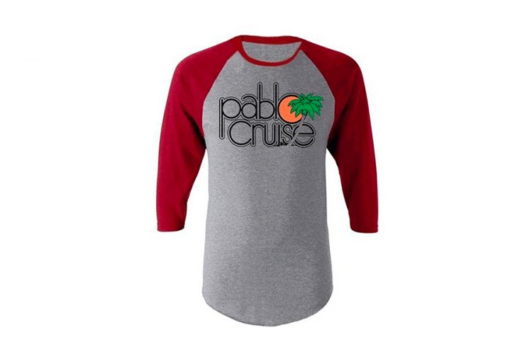 Step Brothers Pablo Cruise Adult Gray and Maroon Raglan T-Shirt
