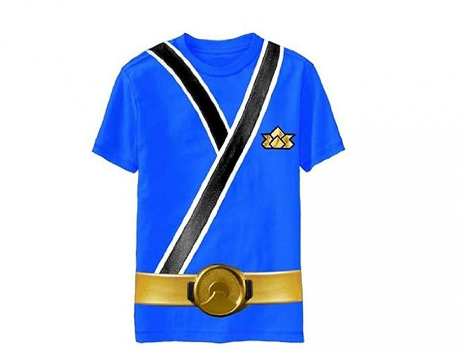 Power Rangers Blue Samurai Ranger Uniform Monster Toddler T Shirt